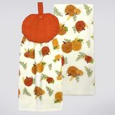 Celebrate Fall Together Pumpkin Button-Top Kitchen Towel 2-pk.