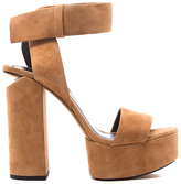 Alexander Wang Women's Keke Platform Heeled Sandals Clay