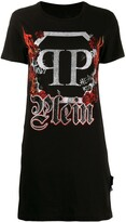 Philipp Plein crystal maxi T-shirt