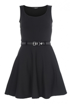 Quiz Black Skater Dress