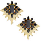 Noir Gold and Black Clear-Cut Earrings