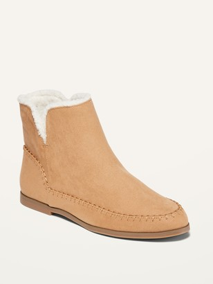 Old Navy Water-Repellent Faux-Suede Ankle Boots for Women