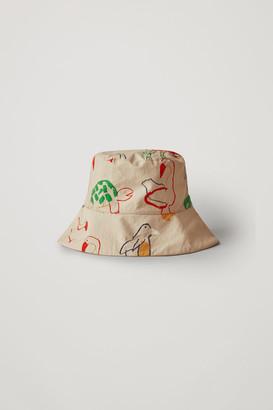 Cos Printed Cotton Bucket Hat