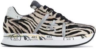 Premiata Conny zebra-print sneakers