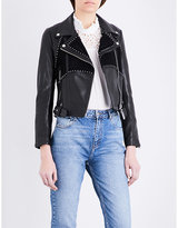 Claudie Pierlot Clyde studded leather jacket