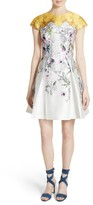 Ted Baker Women's Reliat Passion Flower Cap Sleeve Dress