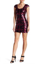 Dress the Population Gabriella Back Cutout Sequin Body-Con Dress