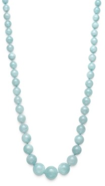 """Macy's Milky Aquamarine Graduated 18"""" Strand Necklace in Sterling Silver"""