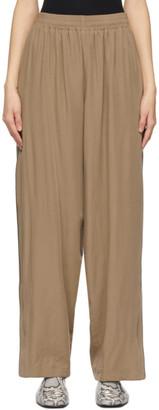 Balenciaga Brown Fluid Poplin Track Pants