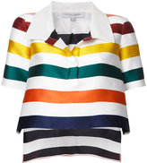 Carolina Herrera cropped striped blouse - women - Silk/Cotton - 6