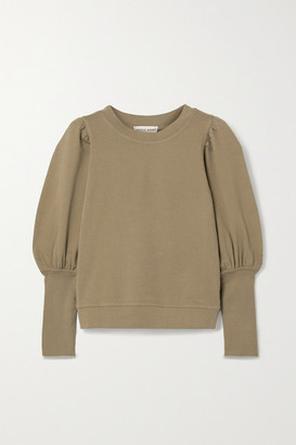 Apiece Apart Olimpio Cotton-jersey Sweatshirt - Army green