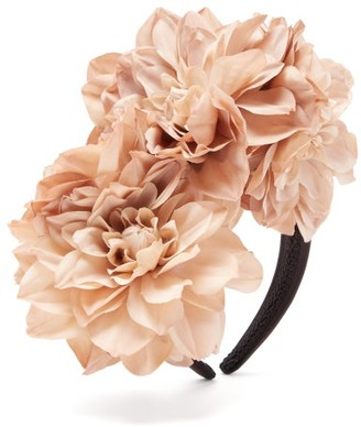 Philippa Craddock - Dahlia Faux-flower Headband - Nude
