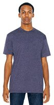 American Apparel Poly-Cotton Short Sleeve Crew Neck, Heather Imperial Purple, X-Large
