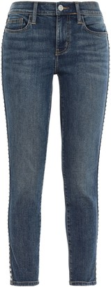 Current/Elliott Studded Mid-rise Skinny Jeans