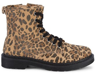 Steve Madden Flann Leopard-Print Suede Booties