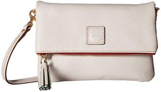 Dooney & Bourke Florentine Classic Fold-Over Zip Crossbody (Natural w/ Self Trim) Cross Body Handbags