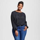 Ava & Viv Women's Plus Size Embellished Blouse