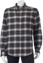 Croft & Barrow Men's Slim-Fit Plaid Flannel Button-Down Shirt