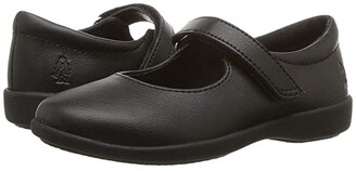 Hush Puppies Kids Lexi (Toddler/Little Kid) (Black Leather) Girl's Shoes