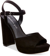 Madden-Girl Sharpe Block-Heel Platform Sandals