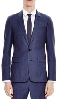 Sandro Notch Flannel Light Slim Fit Sport Coat