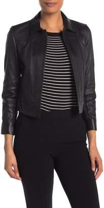 Theory Bristol Shrunken Leather Jacket