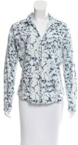 Frank And Eileen Hibiscus Print Button-Up Top w/ Tags