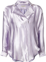Nina Ricci notched lapel blouse - women - Silk/Viscose - M