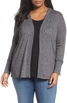 MICHAEL Michael Kors Plus Size Women's Marled Open Cardigan