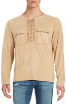 Laboratory Lt Man Sueded Lace-Up Shirt
