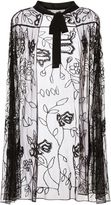 Gina Bacconi Eve Floral Beaded Cape