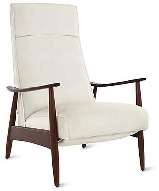 Design Within Reach Thayer Coggin Milo Baughman Recliner 74, White Fabric at DWR
