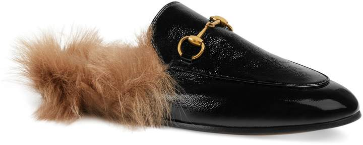 Gucci 'Princetown' Genuine Shearling Loafer Mule