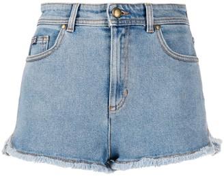 Versace Frayed Denim Shorts