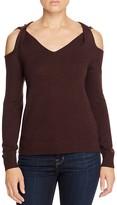 Elan Twist Cold Shoulder Sweater