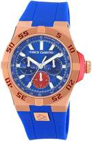 Vince Camuto Men's VC/1010BLRG Rosegold-Tone Multi-Function Resin Strap Watch