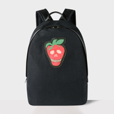 Men's Black Canvas 'Strawberry Skull' Backpack