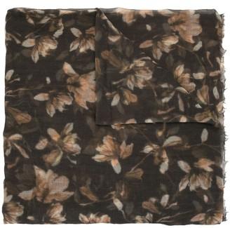 Brunello Cucinelli Floral Print Cashmere Scarf