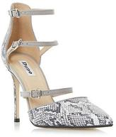 Dune Ladies CATARINA Triple Strap Two Part Heeled Court Shoe in Grey Size UK 8