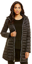 MICHAEL Michael Kors Light Weight Mid Packable Jacket With Detachable Hood