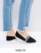 New Look Wide Fit Nautical Espadrille