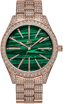 JBW Cristal Gem 18K Rose Gold Over Stainless Steel 1/8 C.T. T.W. Genuine Diamond Bracelet Watch-J6382b
