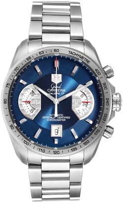 Tag Heuer Blue Stainless Steel Grand Carrera CAV511F Men's Wristwatch 43MM