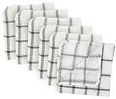 "DII 100% Cotton, Machine Washable, Everyday Kitchen Basic Scrubber Dish Cloths, 12 x 12"" (Set of 6) - Grey"