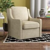 Laurèl Vineland Swivel Armchair Foundry Modern Farmhouse Upholstery Color: Cream