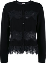 RED Valentino lace insert cardigan
