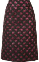 Marc Jacobs rose jacquard pencil skirt - women - Silk/Cotton/Nylon/Metallized Polyester - 6
