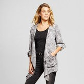 Knox Rose Women's Floral Drape Front Jacket - Knox Rose Gray
