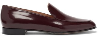 Gianvito Rossi Marcel Patent-leather Loafers - Burgundy
