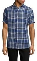 Ralph Lauren Purple Label Bond Modern Fit Plaid Button-Down Shirt